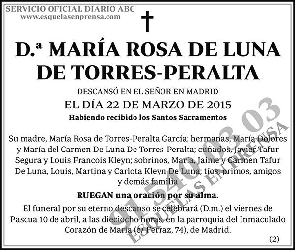 María Rosa de Luna de Torres-Peralta